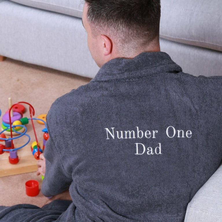 a personalized embroidered robe